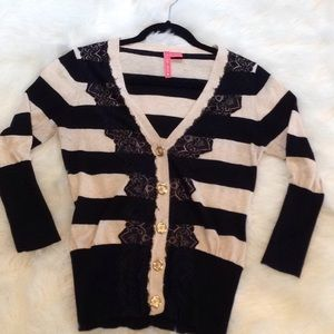 Anthropologie Charlotte Tarantola Lace Sweater